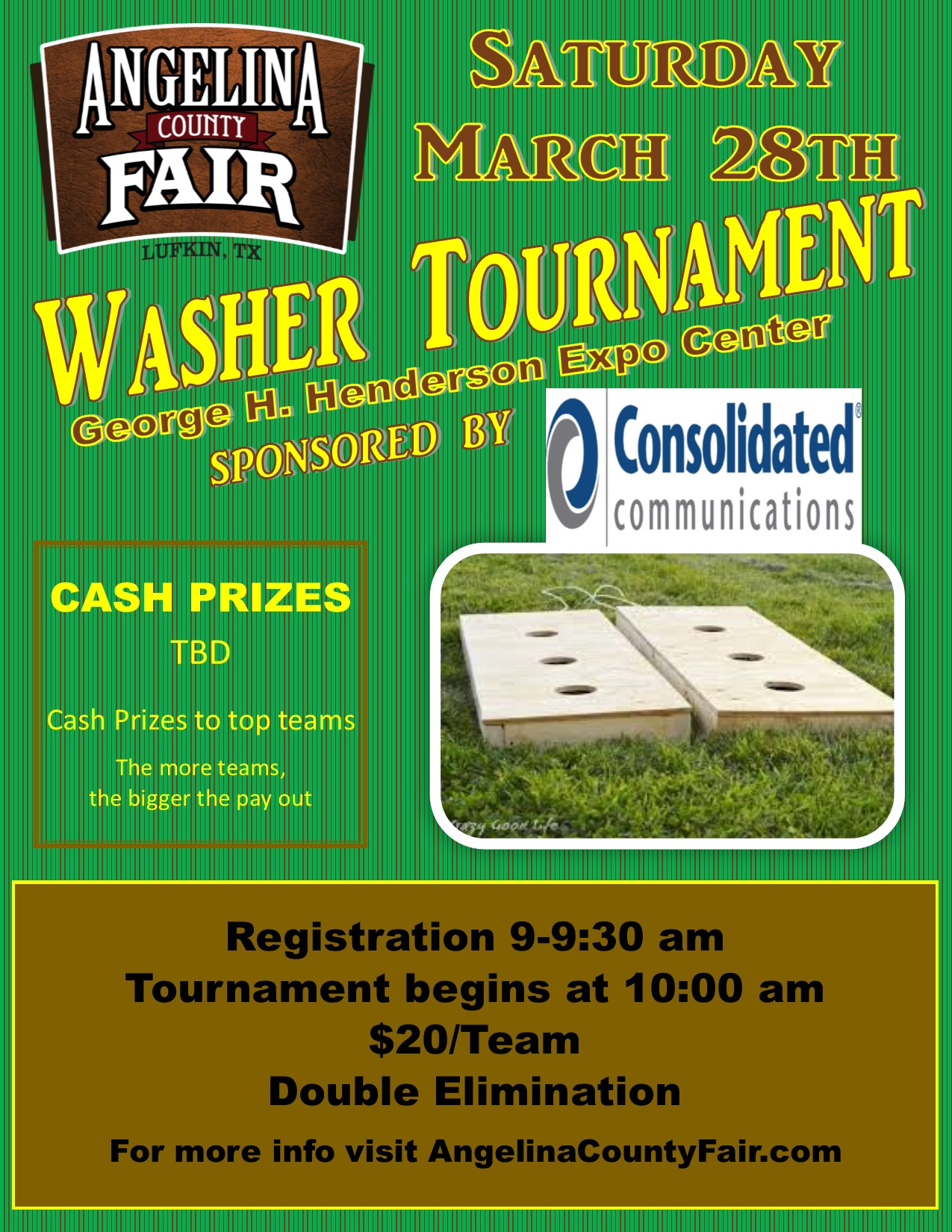 washer tournament poster